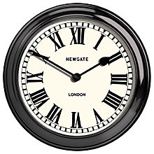Buy Newgate Metal Outdoor Wall Clock, Dia.55cm, Black Online at johnlewis.com