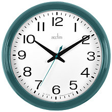 Buy Acctim Penford Wall Clock, Dia.38cm, Blue Online at johnlewis.com