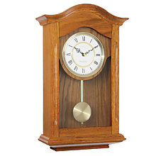 Buy London Clock Company Traditional Pendulum Solid Wood Clock, Oak Online at johnlewis.com