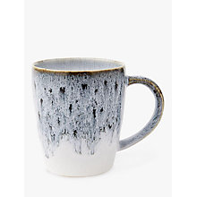 Buy west elm Reactive Glaze Mug, Grey/White Online at johnlewis.com