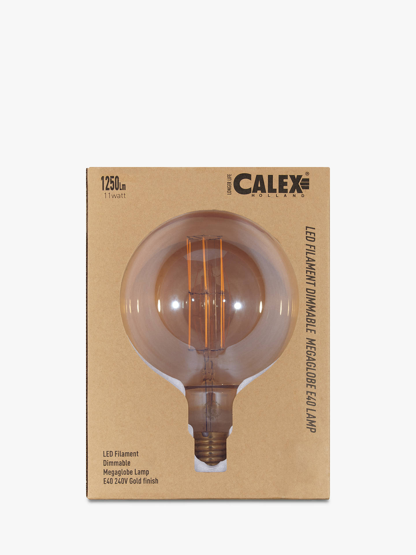 Buy Calex XXL LED Filament Globe Bulb and Pendant Set, Clear/Gold Online at johnlewis.com