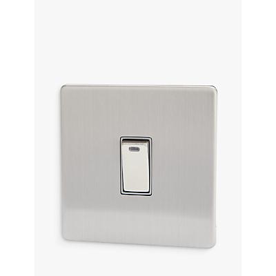 Varilight 1 Gang Double Pole Rocker Switch with Neon Indicator Light