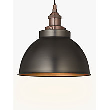 Buy John Lewis Baldwin Pendant Ceiling Light Pewter Copper Online At Johnlewis