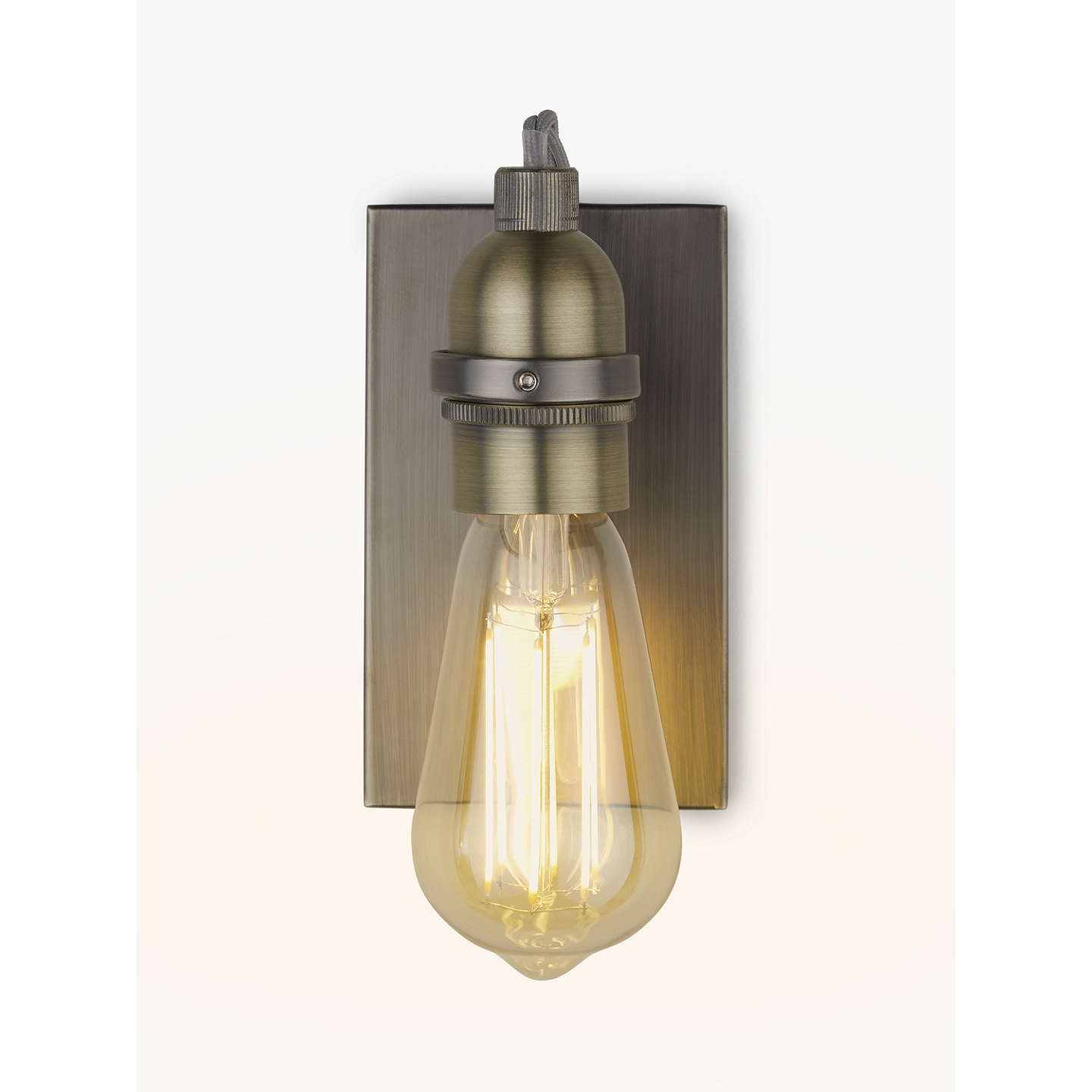 John lewis bistro bulb wall light antique brass at john lewis buyjohn lewis bistro bulb wall light antique brass online at johnlewis aloadofball Choice Image