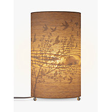 Buy John Lewis Flock Birds Wood Veneer Table Lamp Online at johnlewis.com
