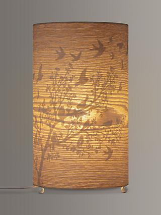 John Lewis & Partners Flock Birds Wood Veneer Table Lamp