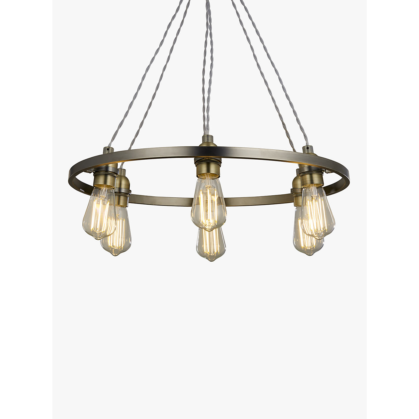 Buy john lewis bistro hoop pendant ceiling light 6 light pewter buy john lewis bistro hoop pendant ceiling light 6 light pewter online at johnlewis aloadofball Gallery