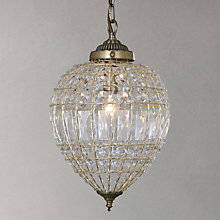 Buy John Lewis Dante Ceiling Light, Antique Brass Online at johnlewis.com