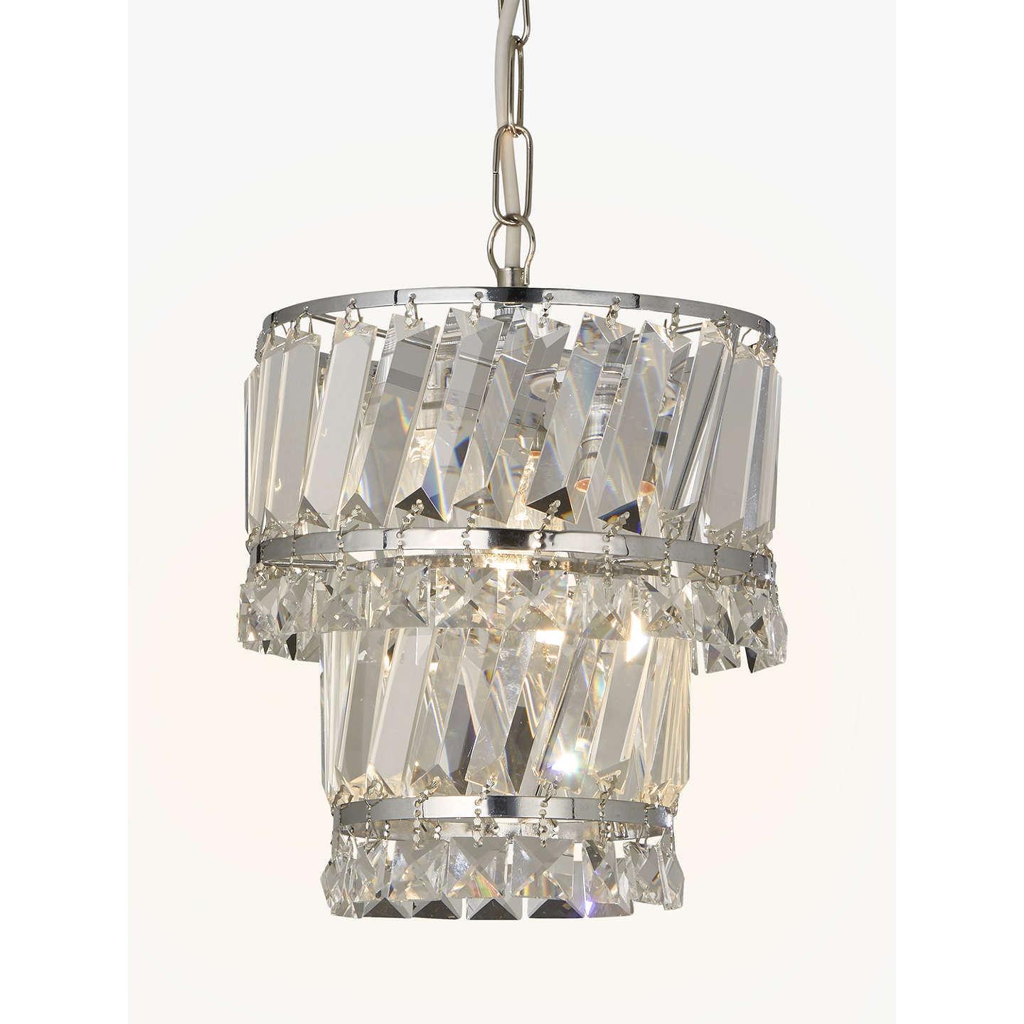 John Lewis Celeste Easy To Fit Pendant Ceiling Light Crystal Clear