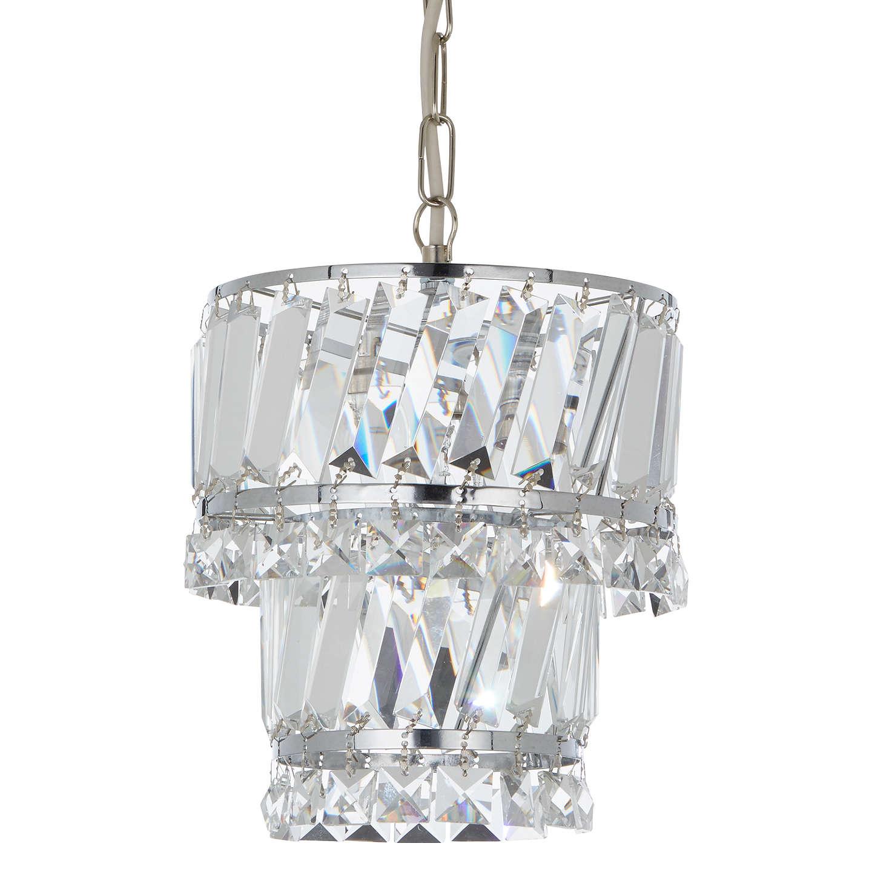 John Lewis Celeste Easy-to-Fit Pendant Ceiling Light, Crystal/Clear ...
