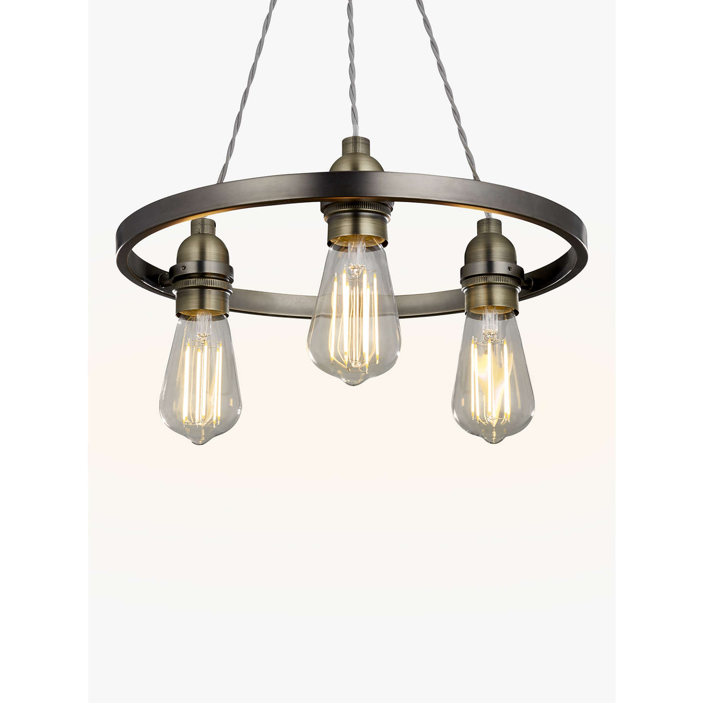 John lewis bistro hoop pendant ceiling light 3 light pewter at buyjohn lewis bistro hoop pendant ceiling light 3 light pewter online at johnlewis mozeypictures