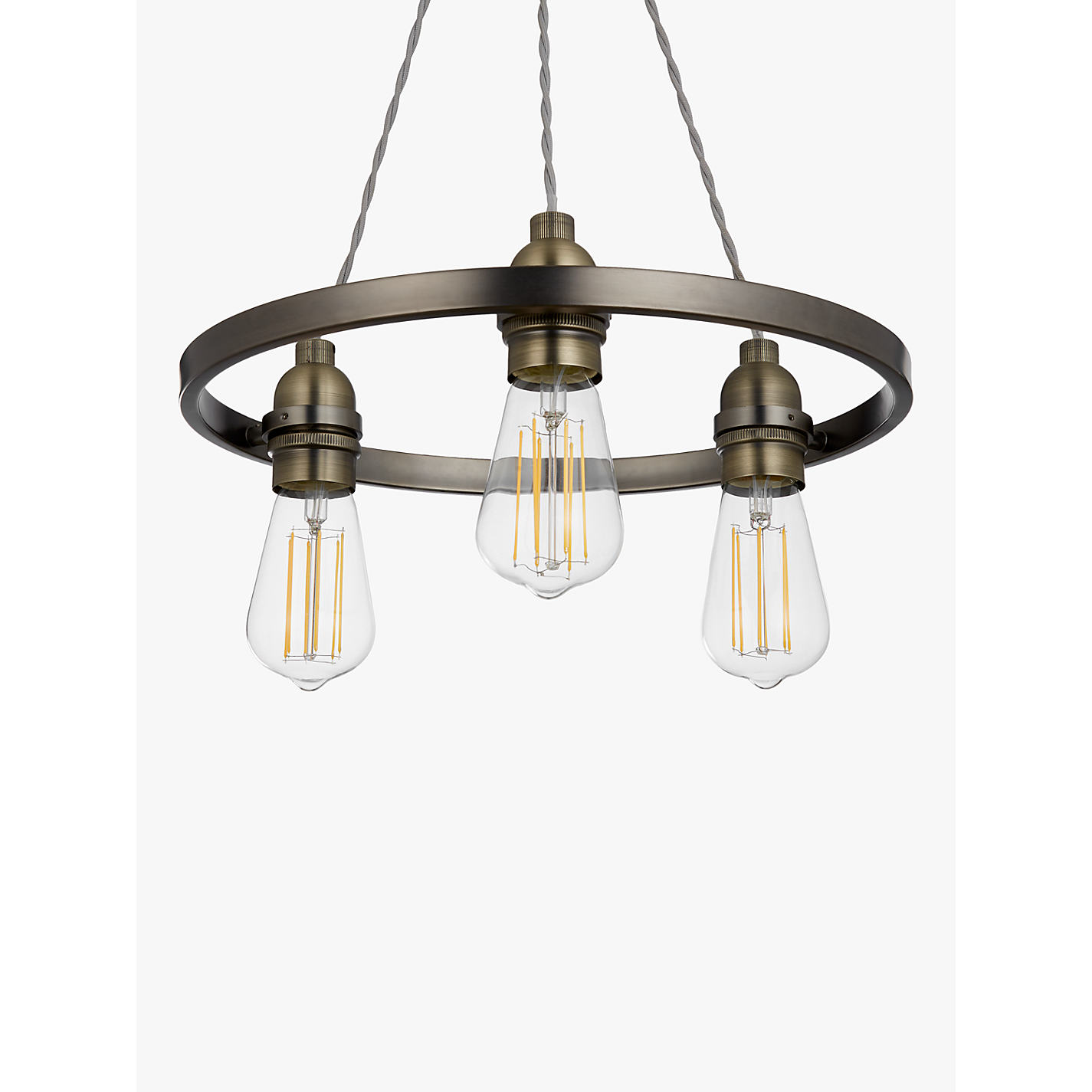 Buy john lewis bistro hoop pendant ceiling light 3 light pewter buy john lewis bistro hoop pendant ceiling light 3 light pewter online at johnlewis aloadofball Gallery