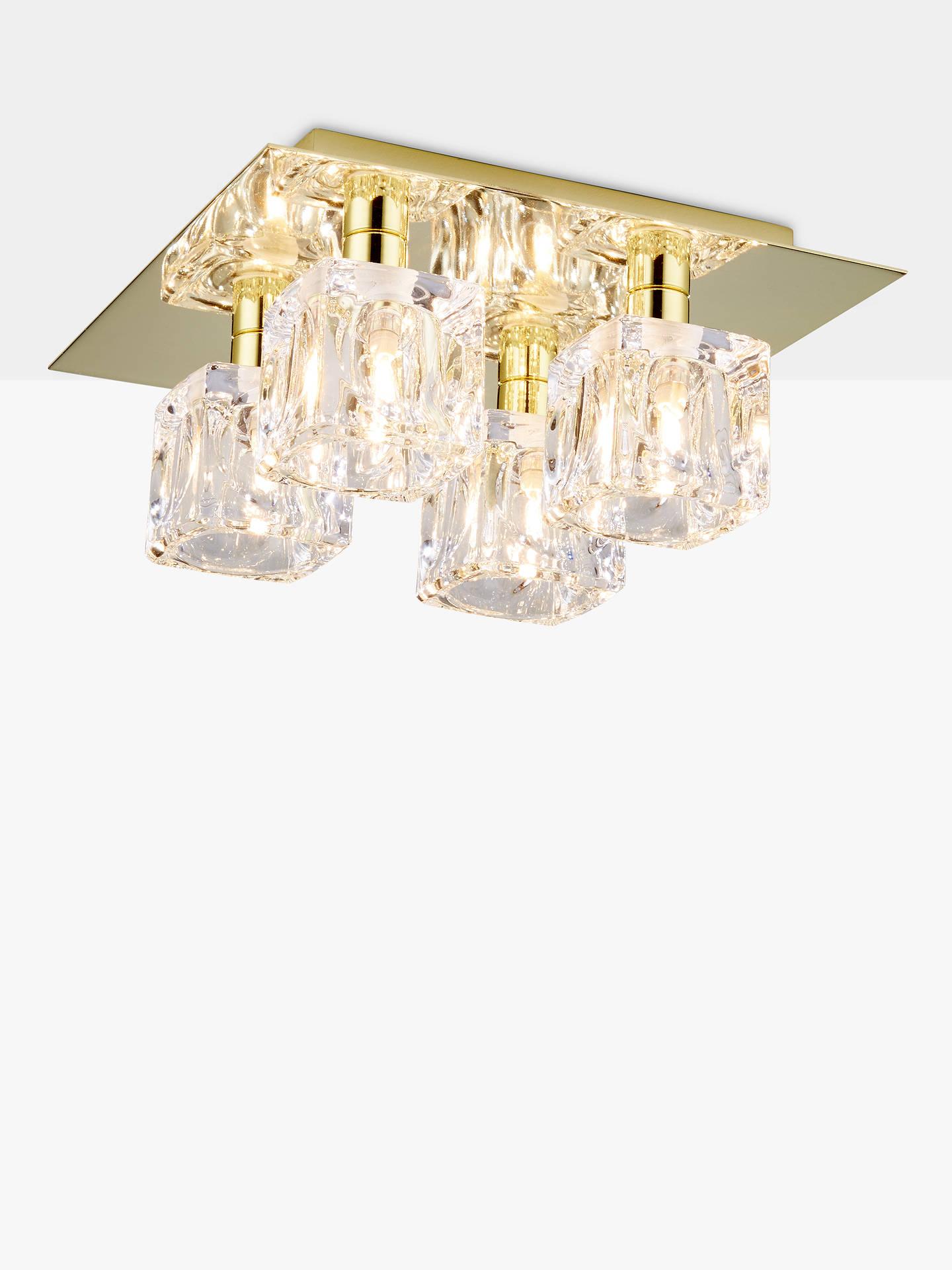 Buy john lewis partners cuboid semi flush ceiling light gold online at johnlewis