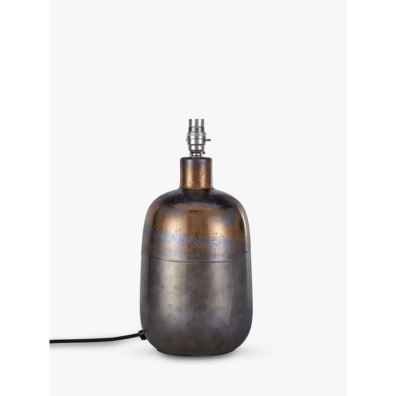 John Lewis Ember Metallic Ceramic Lamp Base, Bronze At
