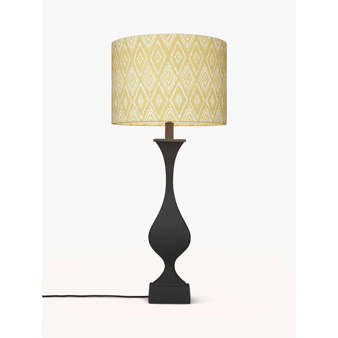 BuyJohn Lewis Desta Painted Console Lamp Base, Black Online At  Johnlewis.com ...