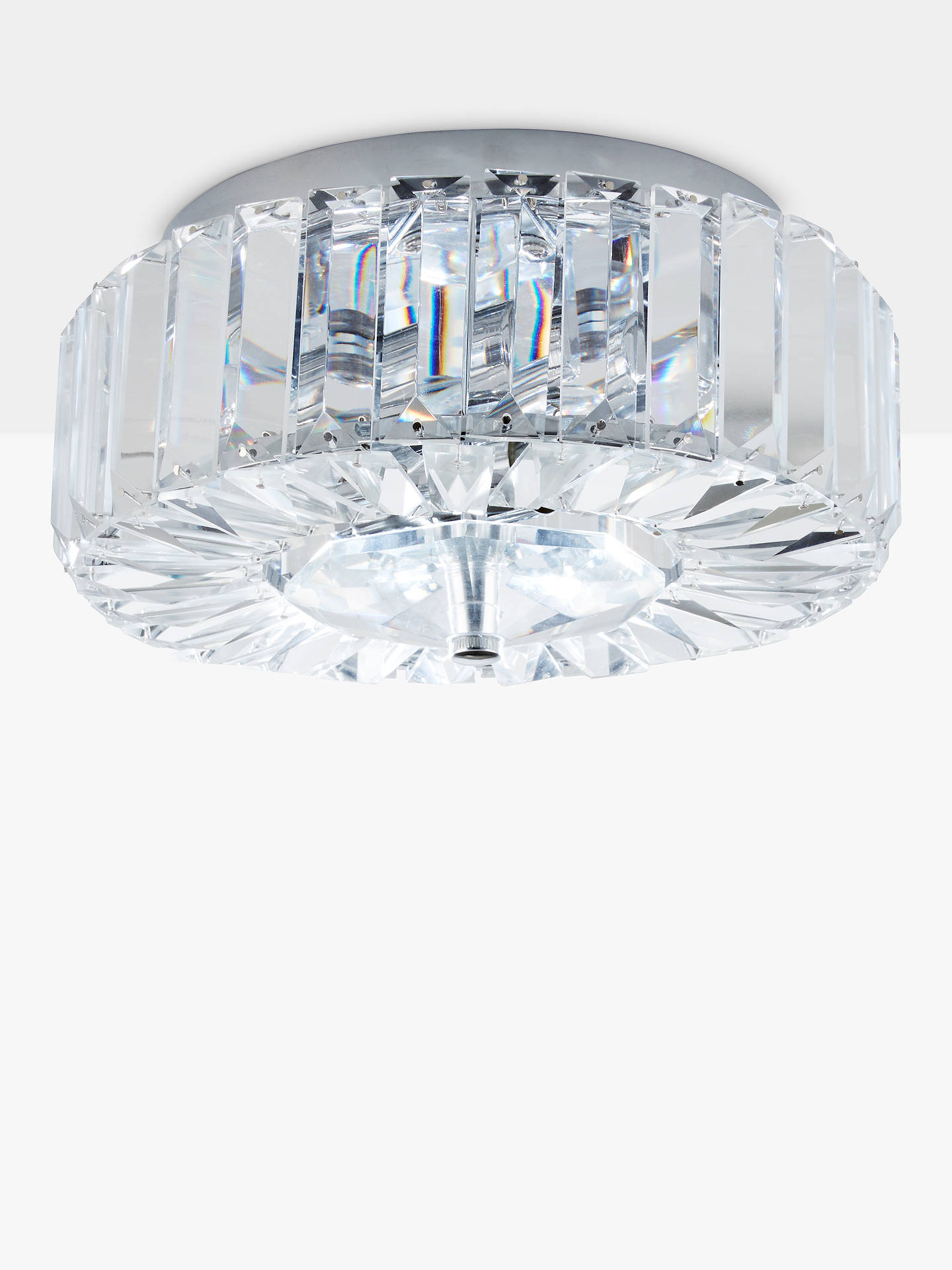BuyJohn Lewis & Partners Esme Crystal Flush Ceiling Light, Chrome Online at johnlewis.com