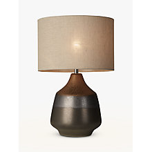 Buy John Lewis Delaney Metallic 2 Glaze Ceramic Table Lamp, Bronze Online at johnlewis.com