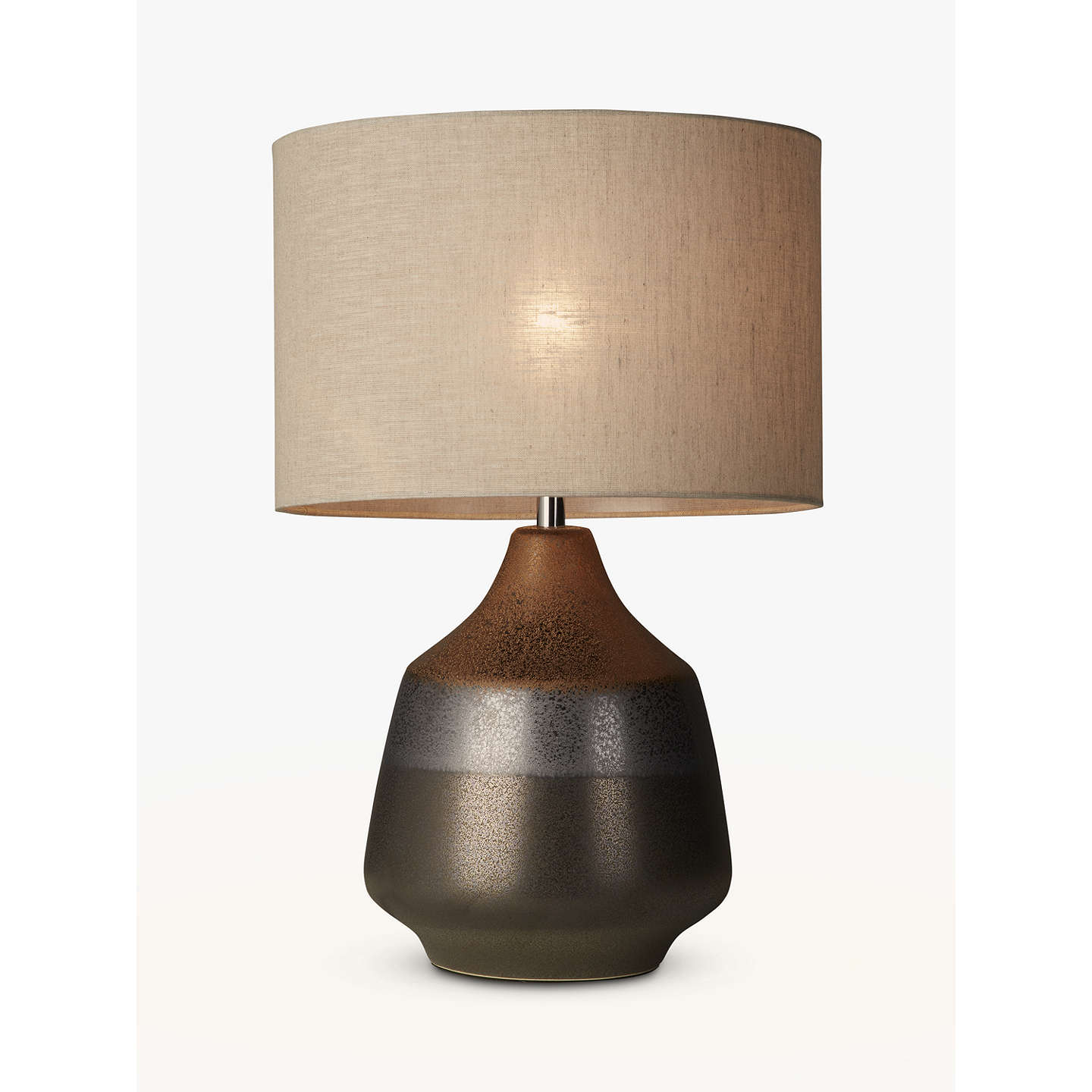 John lewis delaney metallic glaze ceramic table lamp bronze at john buyjohn lewis delaney metallic glaze ceramic table lamp bronze online at johnlewis aloadofball Gallery