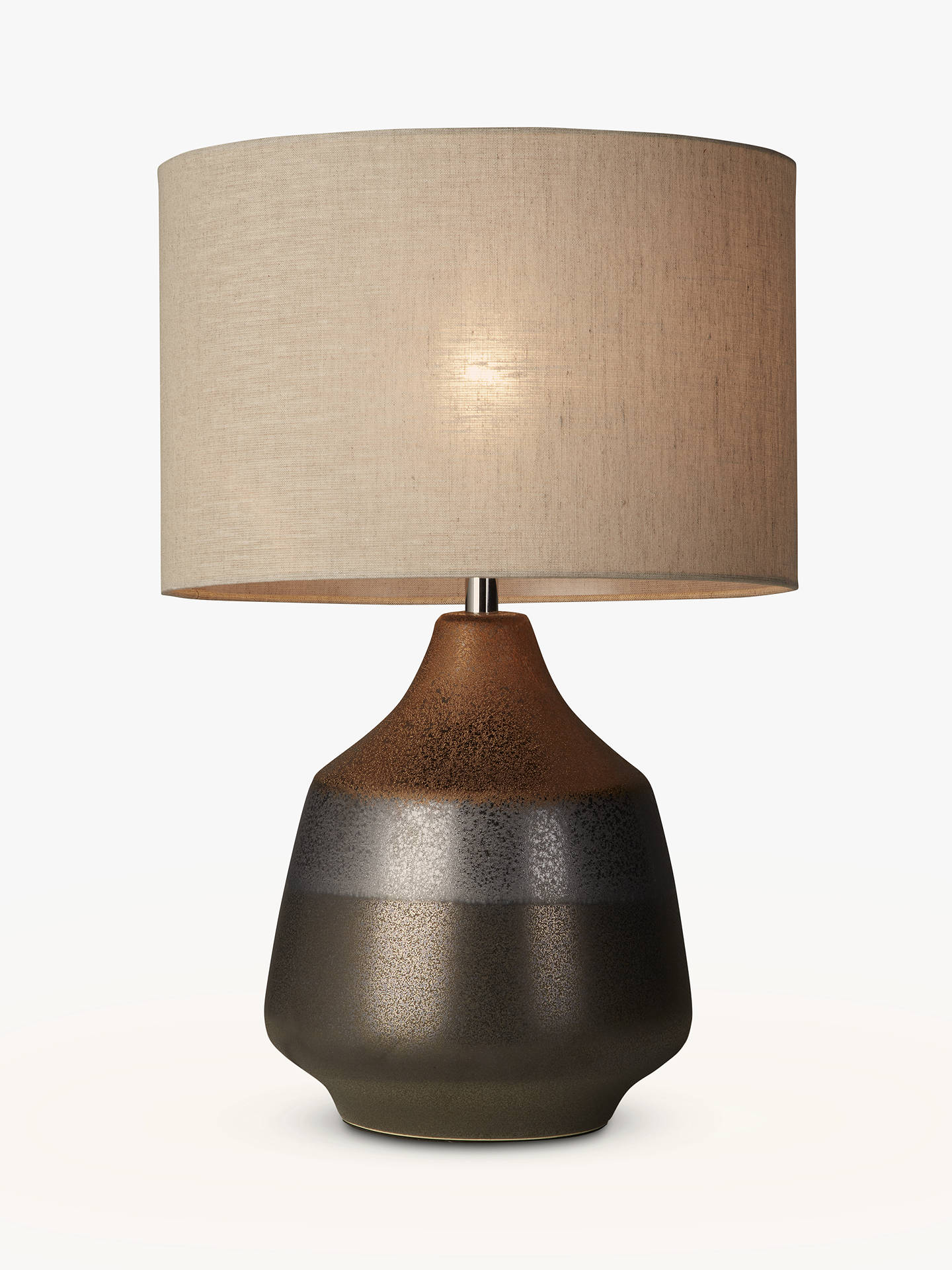d562adee33 John Lewis   Partners Delaney Metallic Glaze Ceramic Table Lamp ...