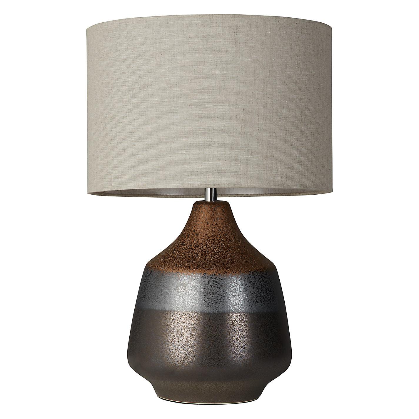 Buy john lewis delaney metallic 2 glaze ceramic table lamp bronze buy john lewis delaney metallic 2 glaze ceramic table lamp bronze online at johnlewis geotapseo Image collections