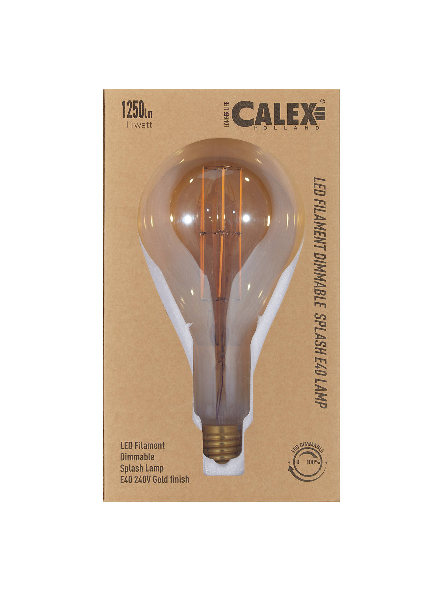 Buy Calex XXL Filament Classic Bulb and Pendant Set, Clear/Gold Online at johnlewis.com
