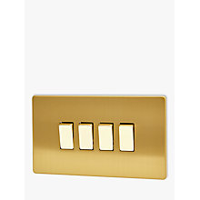 Buy Varilight 4 Gang 2-Way Rocker Switch, Brushed Brass Online at johnlewis.com