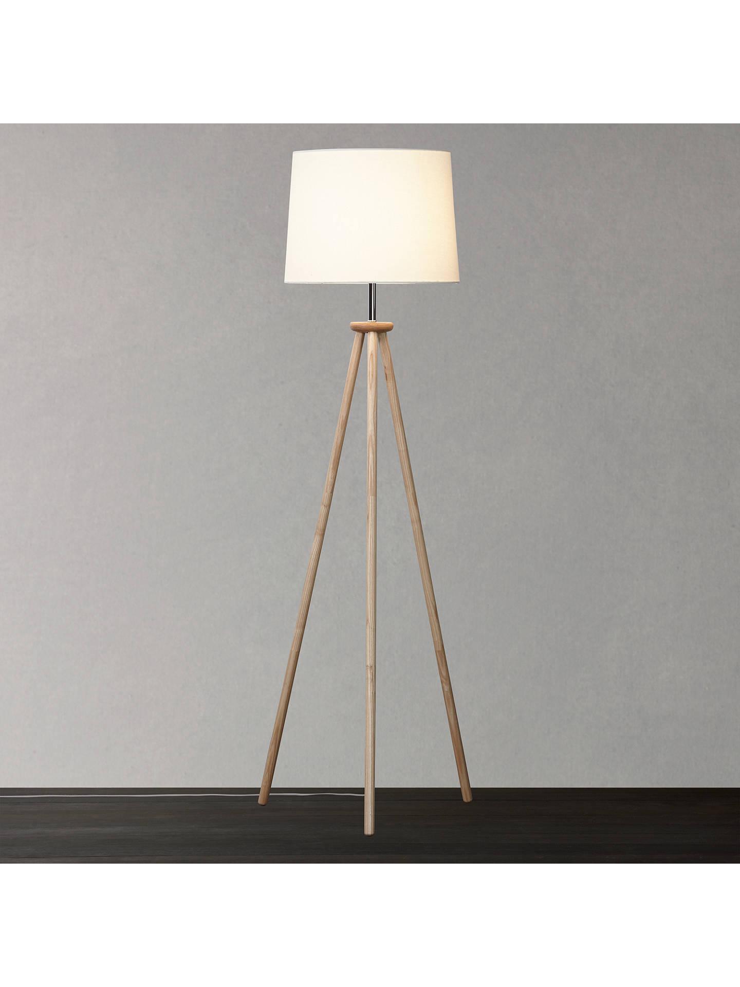 John Lewis Glen Tripod Floor Lamp, Ash at John Lewis & Partners