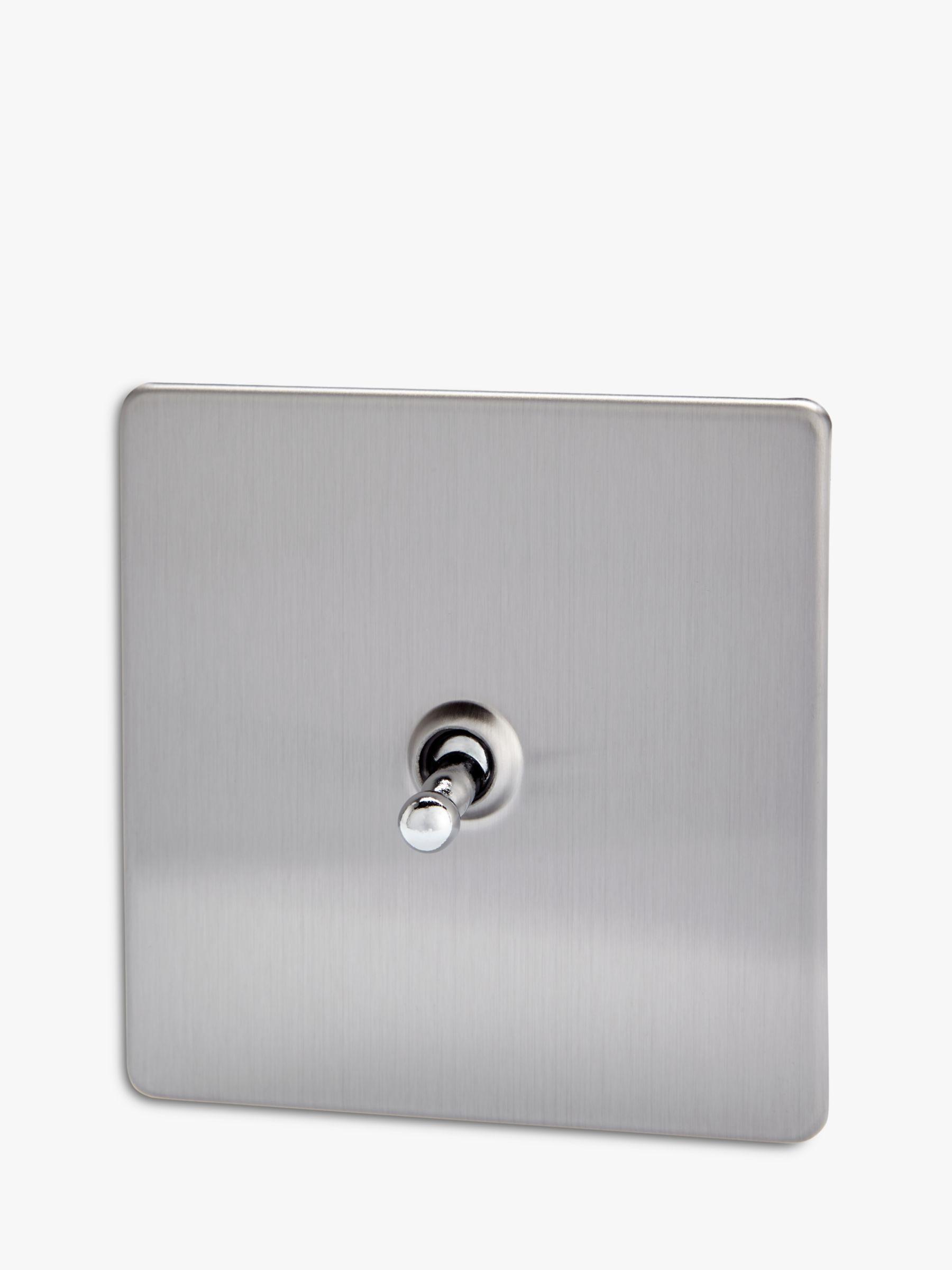 Varilight Varilight 1 Gang 2-Way Toggle Switch, Brushed Steel