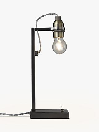 John Lewis & Partners Bistro Desk Lamp, Pewter