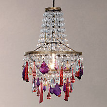 Buy John Lewis Christina Easy-to-Fit Small Crystal Ceiling Light Online at johnlewis.com