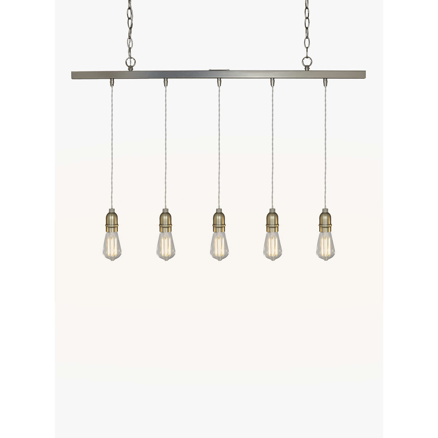 John lewis bistro bar pendant ceiling light 5 light pewter at john buyjohn lewis bistro bar pendant ceiling light 5 light pewter online at johnlewis mozeypictures Image collections
