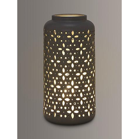 Buy john lewis bella large ceramic lantern table lamp grey john buy john lewis bella large ceramic lantern table lamp grey online at johnlewis aloadofball Images
