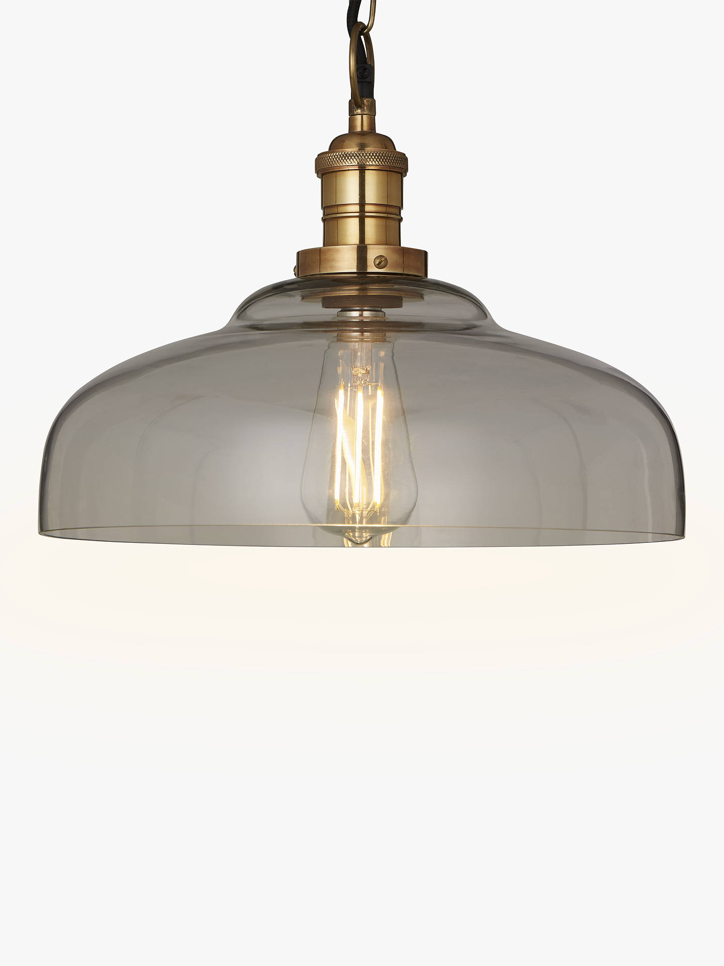 Croft collection clyde glass pendant ceiling light clear