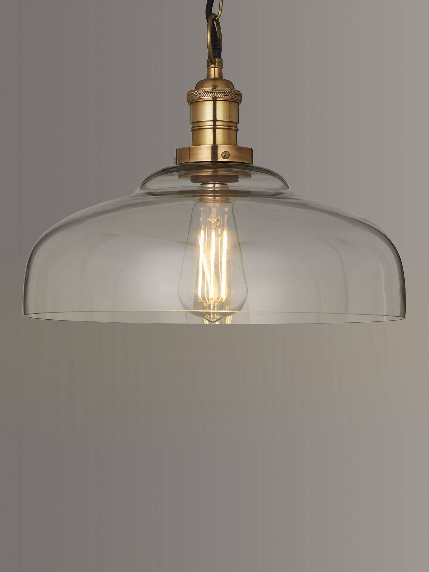John Lewis Partners Clyde Glass Pendant Ceiling Light Clear At John Lewis Partners