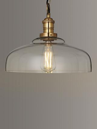 Croft Collection Clyde Glass Pendant Ceiling Light, Clear