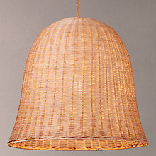 Buy John Lewis Croft Collection Stanley Rattan Large Easy-to-Fit Ceiling Light, Brown/Natural Online at johnlewis.com