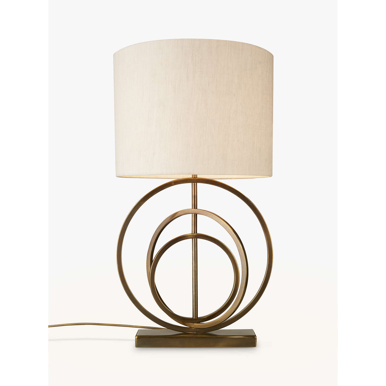 John Lewis Ainsley Sculptured Rings Lamp Base, Antique