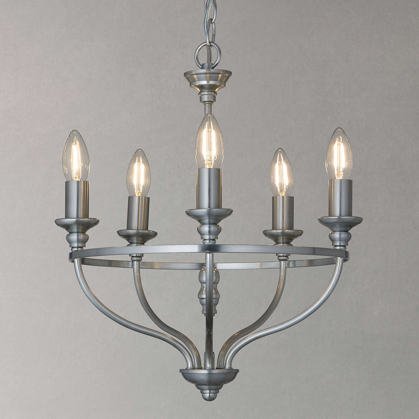Buyjohn Lewis Bailey Chandelier Ceiling Light, 5 Arm, Galvanised Online