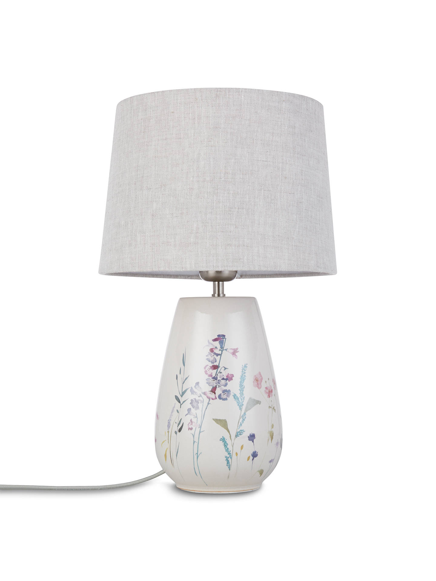 BuyJohn Lewis & Partners Longstock Print Crackle Table Lamp Online at johnlewis.com