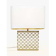 Buy John Lewis Delores Capiz Shell Table Lamp, Satin Brass Online at johnlewis.com