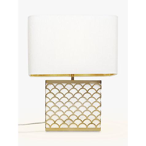Buy John Lewis Delores Capiz Shell Table Lamp, Satin Brass Online At  Johnlewis.com ...