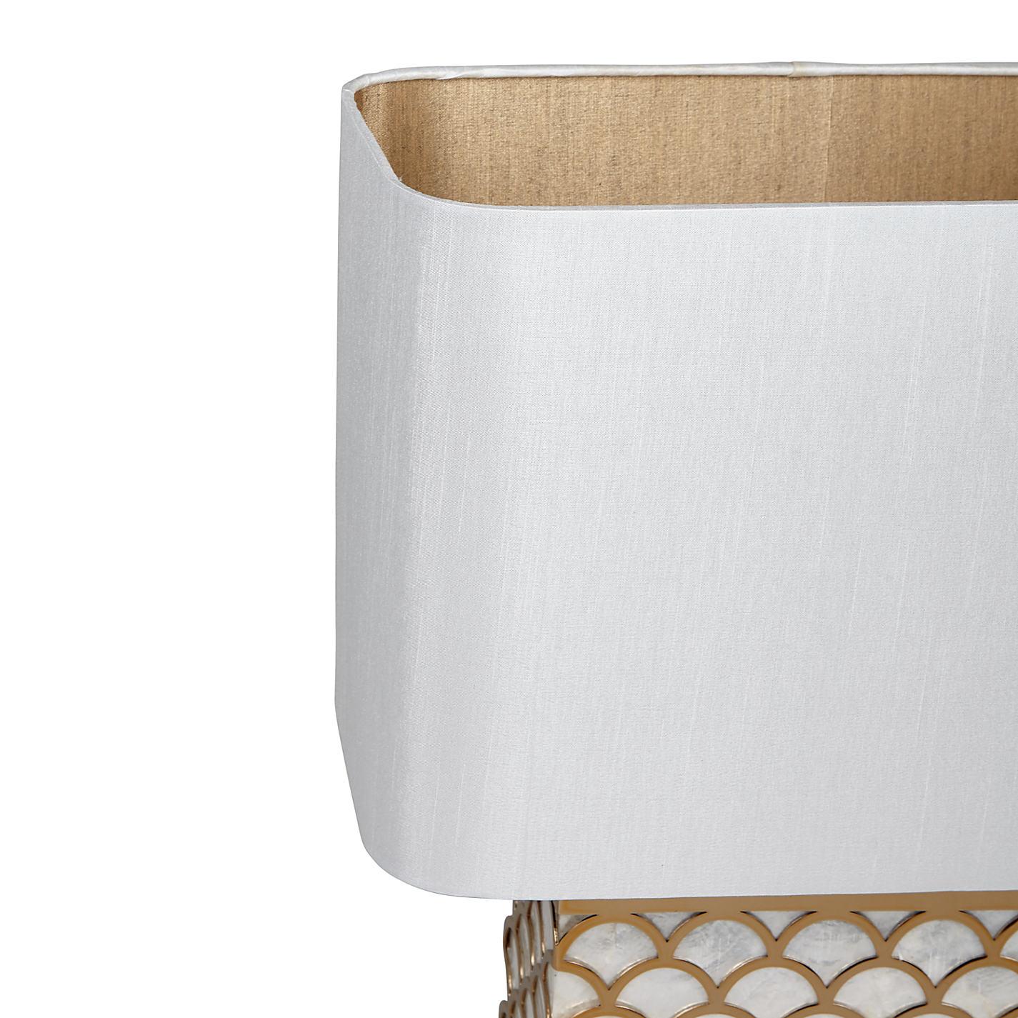 ... Buy John Lewis Delores Capiz Shell Table Lamp, Satin Brass Online At  Johnlewis.com ...