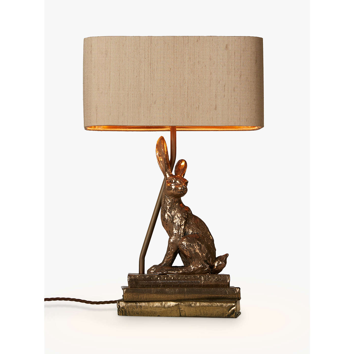 David hunt hare table lamp bronze at john lewis buydavid hunt hare table lamp bronze online at johnlewis mozeypictures Image collections