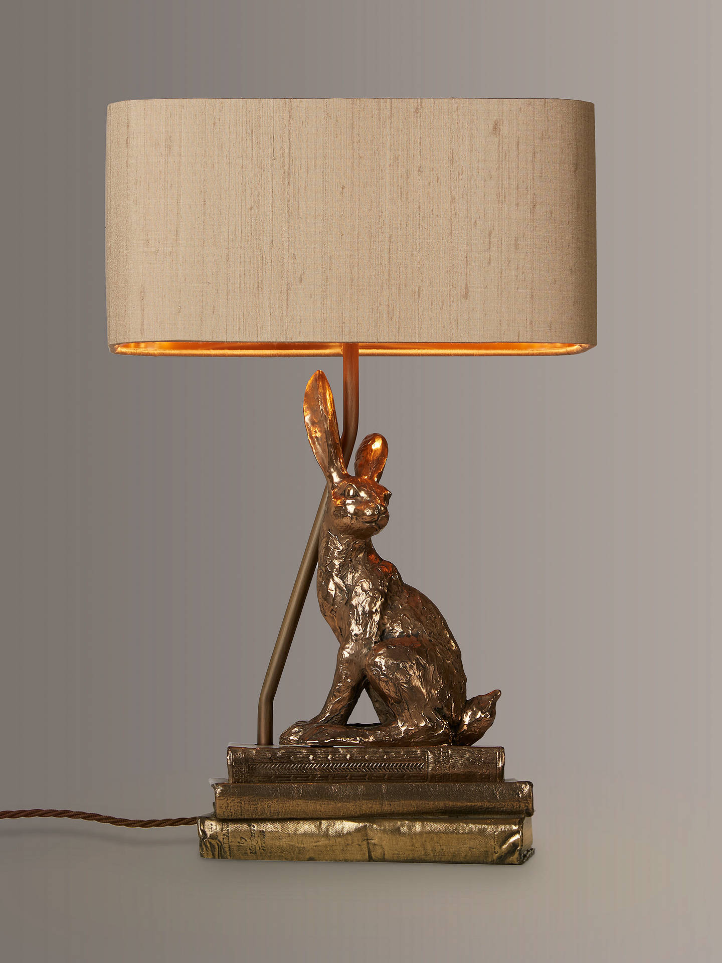 Buy David Hunt Hare Table Lamp, Bronze Online at johnlewis.com