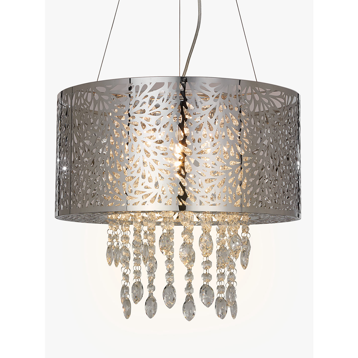 Buy john lewis destiny crystal fretwork pendant ceiling light buy john lewis destiny crystal fretwork pendant ceiling light silverclear online at johnlewis aloadofball Gallery