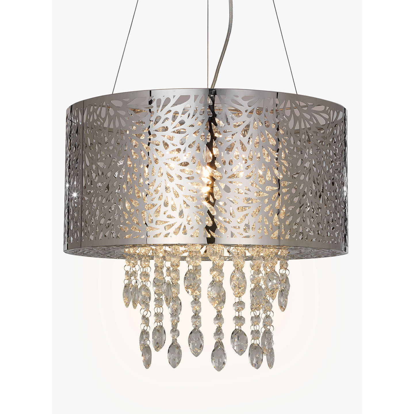 BuyJohn Lewis Destiny Crystal Fretwork Ceiling Light Silver/Clear Online at johnlewis.com ...  sc 1 st  John Lewis & John Lewis Destiny Crystal Fretwork Pendant Ceiling Light Silver ...