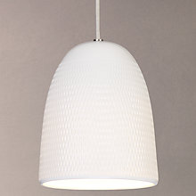 Buy John Lewis Fitcham Textured Porcelain Pendant Ceiling Light, White Online at johnlewis.com