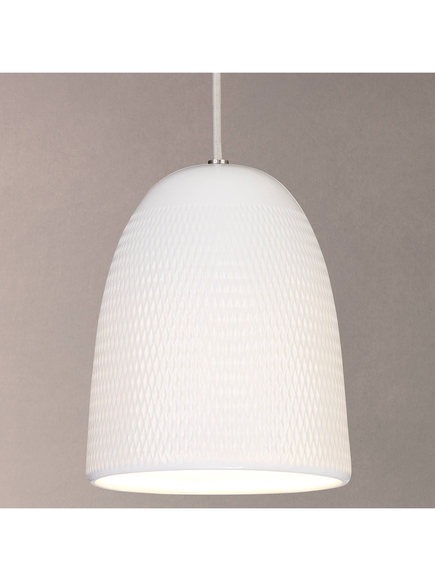 John Lewis Fitcham Textured Porcelain Pendant Ceiling Light White Fixture Wiring Diagram Buyjohn Online At