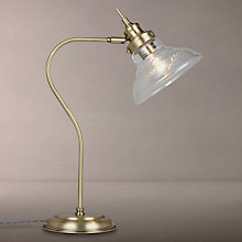 Buy John Lewis Hadley Task Table Lamp, Antique Brass Online at johnlewis.com