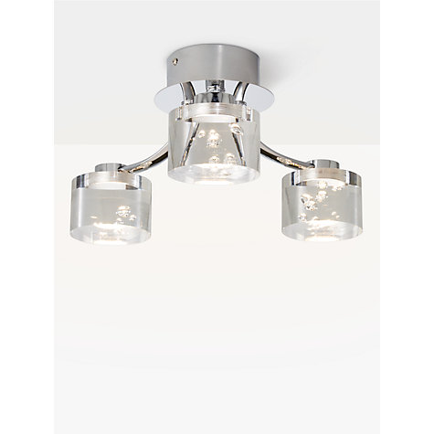 Bathroom Light Fixtures John Lewis buy john lewis lawrence led bubble flush ceiling light, 3 light